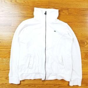 Lacoste Full Zip Soft Fleece  Mock Neck Sweater